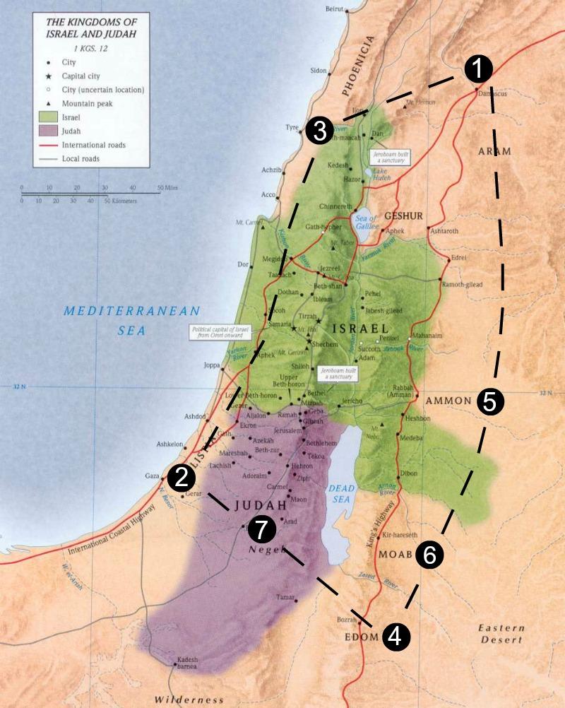 Amos 1-2 Map