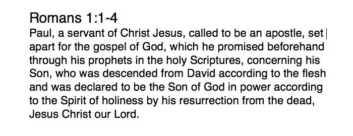 Romans 1:1-4 passage
