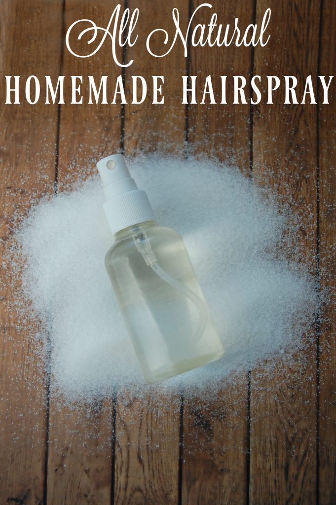 All Natural Homemade Hairspray - Just 3 ingredients that you likely already have in your house and you can make your own hairspray! No more toxic ingredients!