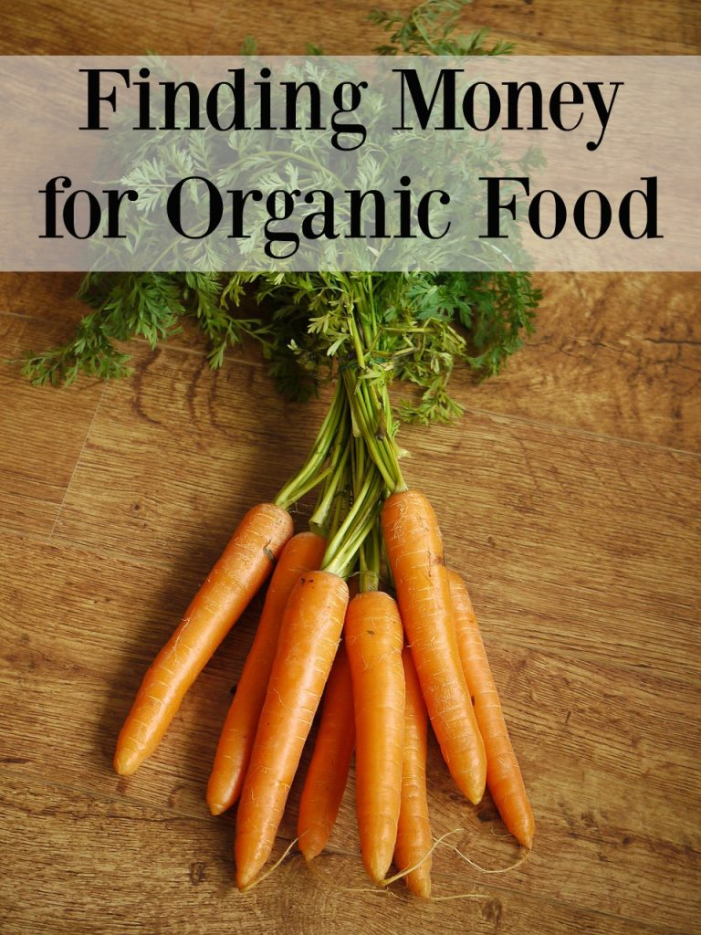 Finding Money for Organic Food - Having a hard time finding money for organic food? Feel like you can't afford organics on your budget? Check out these tips!