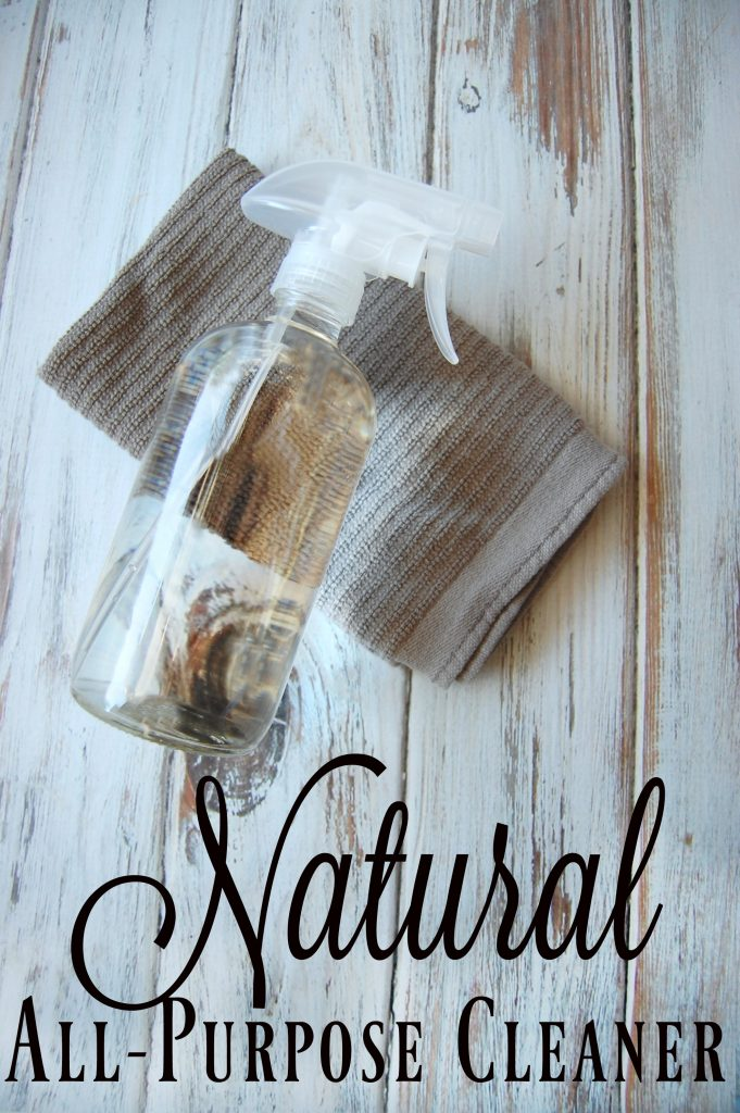 Natural All-Purpose Cleaner - I love products that have multiple uses and that is why I love a good all-purpose cleaner. One bottle to clean almost every surface in my house. It's even greater when that bottle is a natural all-purpose cleaner!
