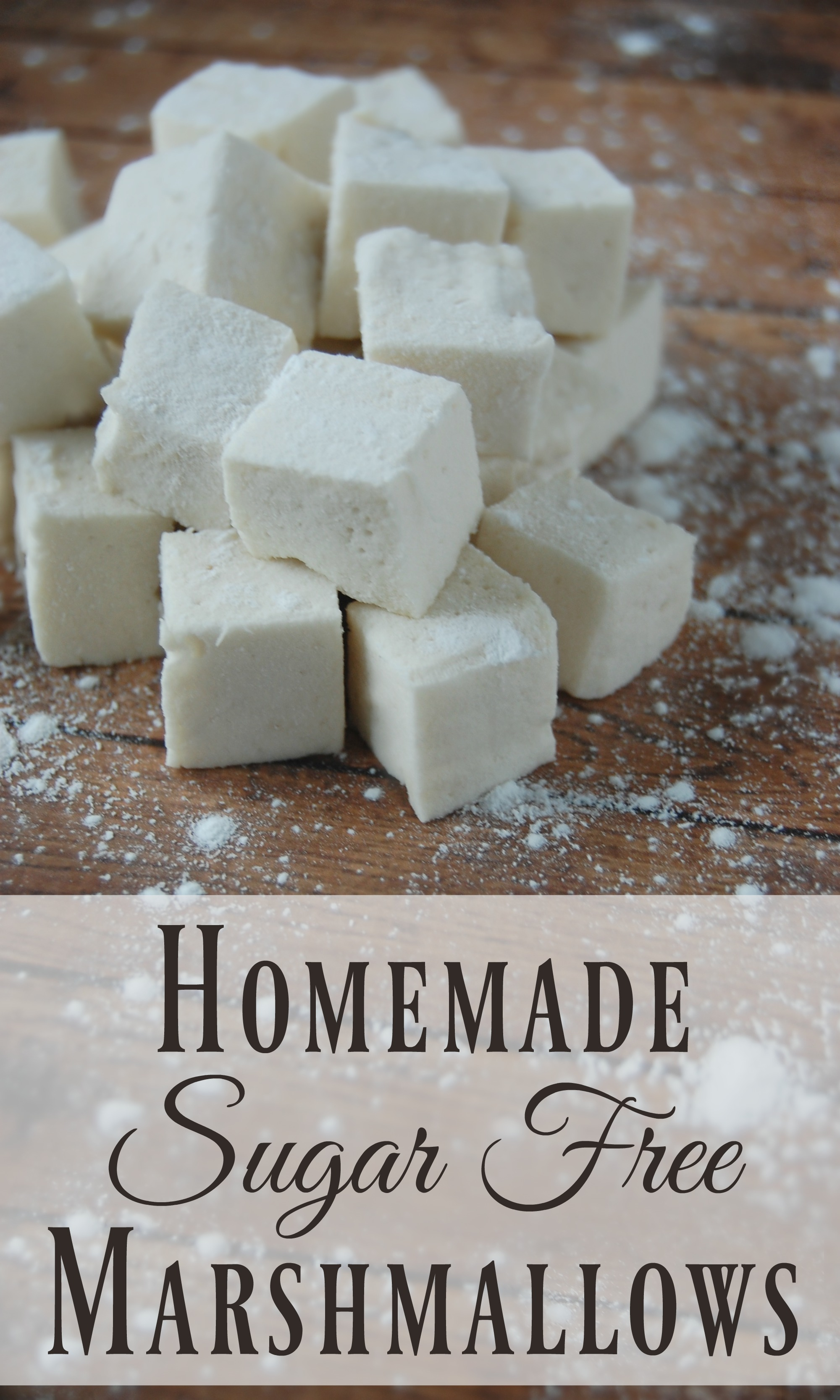 Homemade Sugar Free Marshmallows! - Where has this been all my life? No more guilt tripping over marshmallows for me! These things are practically a health food once you ditch all the yucky ingredients that most store bought marshmallows have!