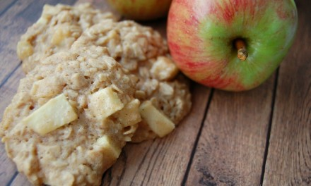 Honey Apple Oatmeal Cookies