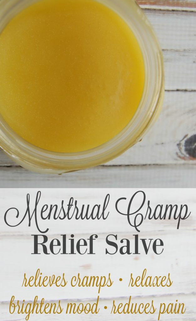 Menstrual Cramp Relief Salve - this stuff is amazing! I use it every month and it helps so much! No more painkillers for my cramps!