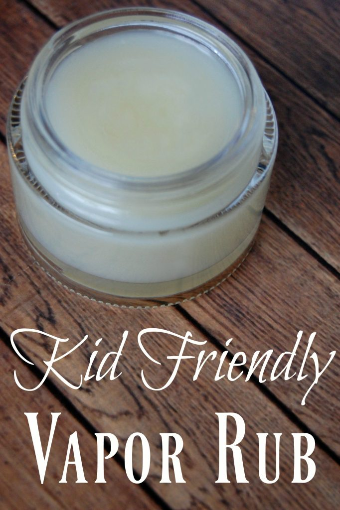 This kid friendly vapor rub will help your child breathe easier without the harmful ingredients that other vapor rubs contain.