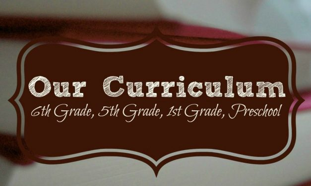 Homeschool Curriculum 2017-2018