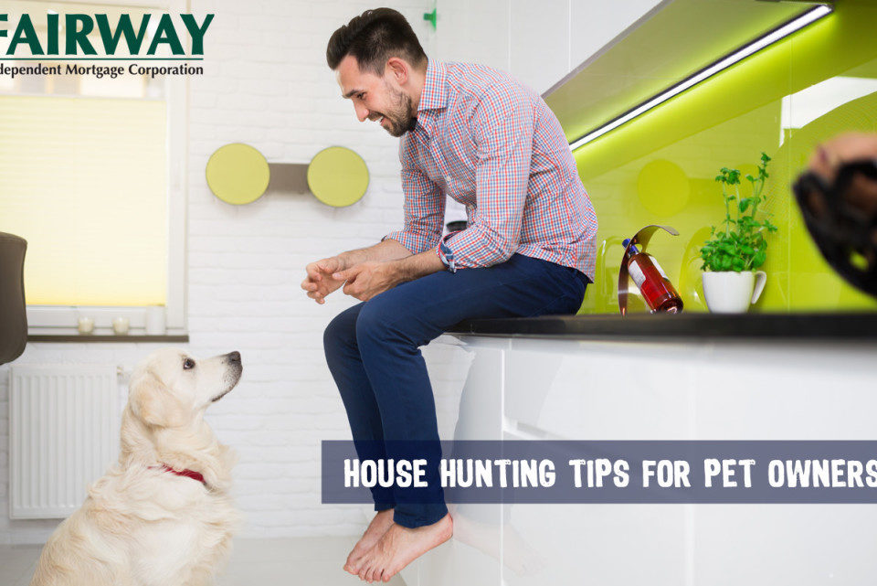 Man with Dog - house hunting tips for pets