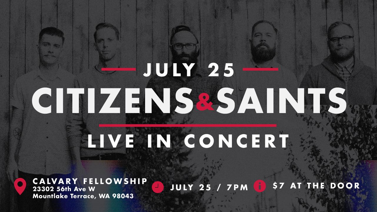Citizens and Saints Live