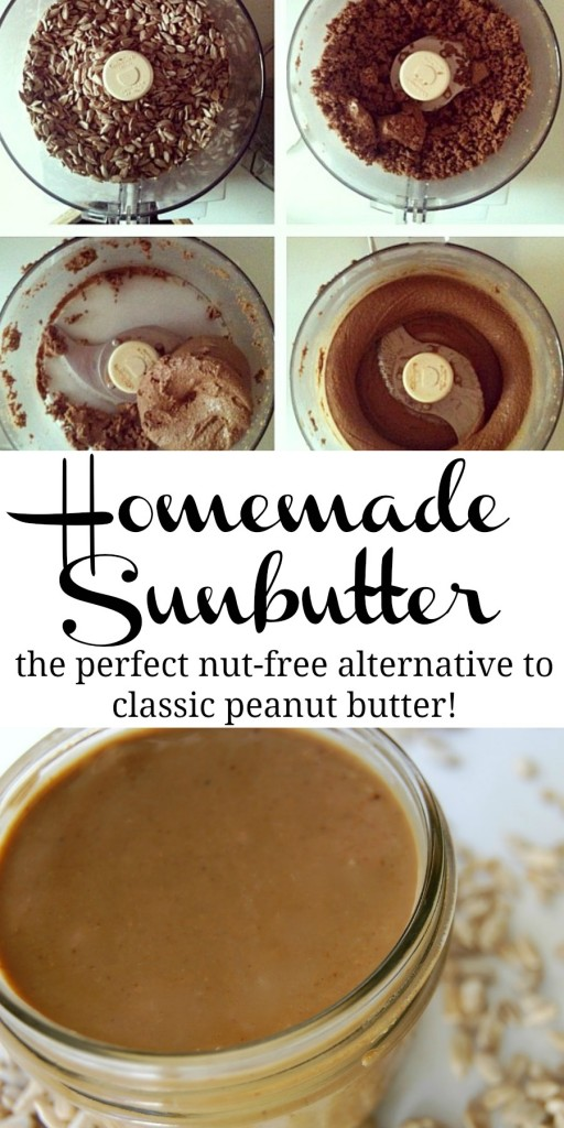 Homemade Sunbutter - great alternative to peanut butter!
