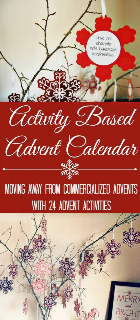 """This Activity Based Advent Calendar will help you celebrate Christmas with your kids with more bonding time and less """"stuff""""."""