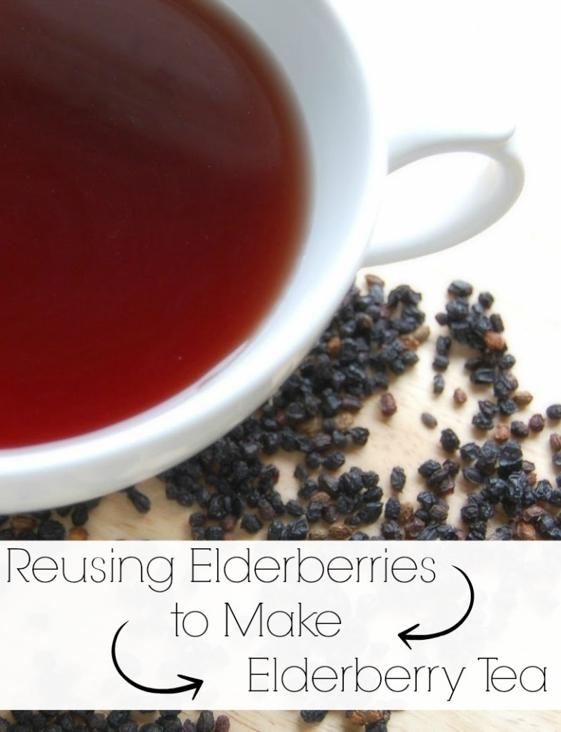 Reusing Elderberries to Make Elderberry Tea