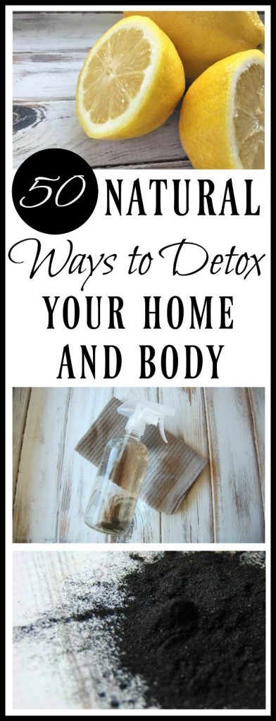 Here are 50 Natural Ways to Detox Your Home & Body! Whether it's your New Year goal or you just feel the need to detoxify your life, these tips will get you living healthier!