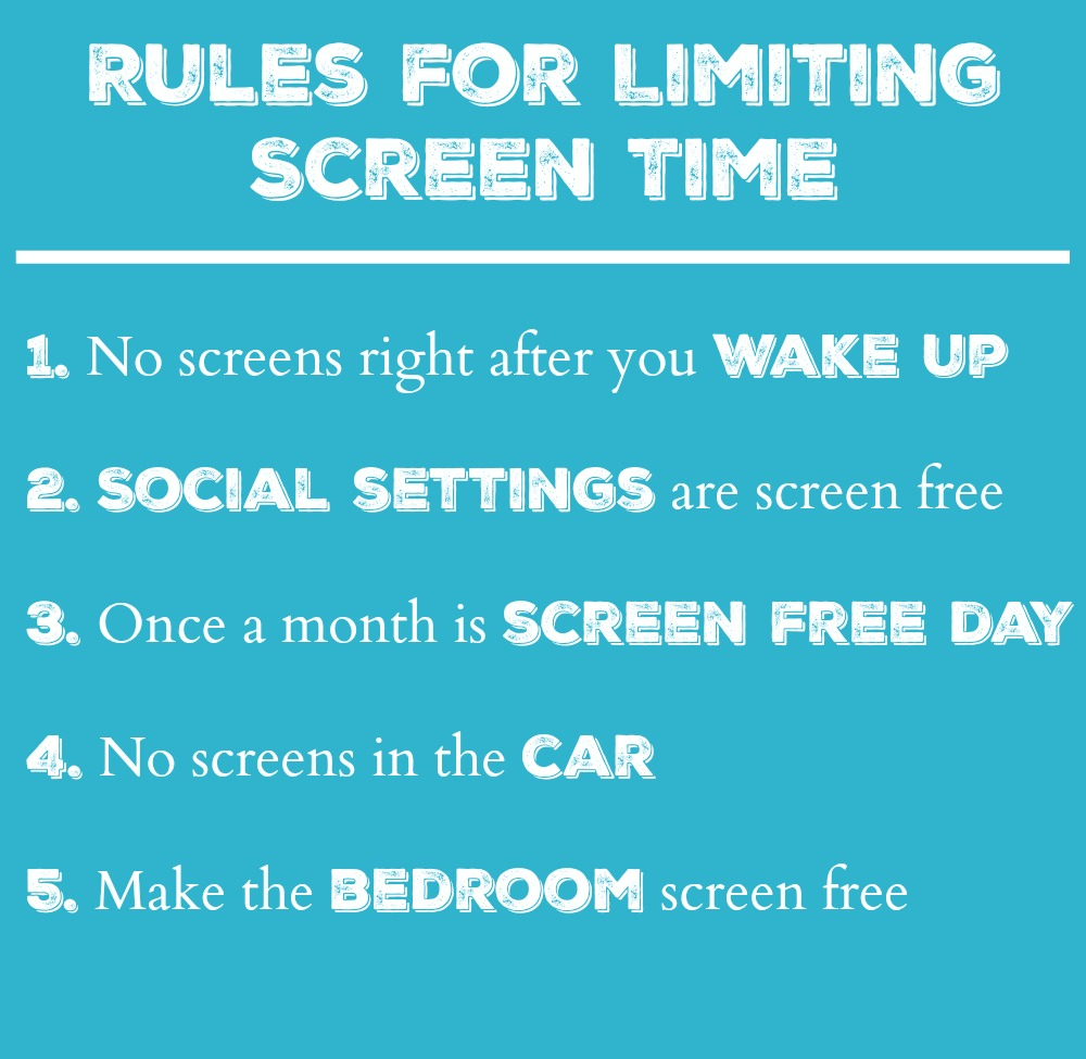 Rules for Limiting Screen Time
