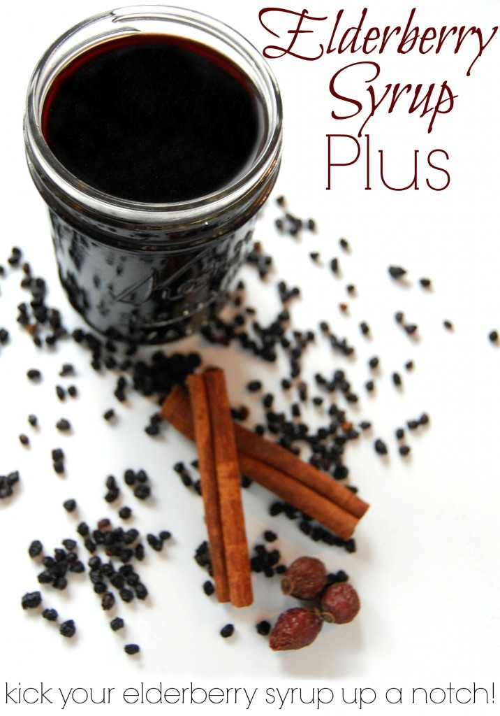 Now plain jane elderberry syrup is wonderful, don't get me wrong but you can make a good thing even better just by adding a few more ingredients. We are taking elderberry syrup and turning it into elderberry syrup plus!