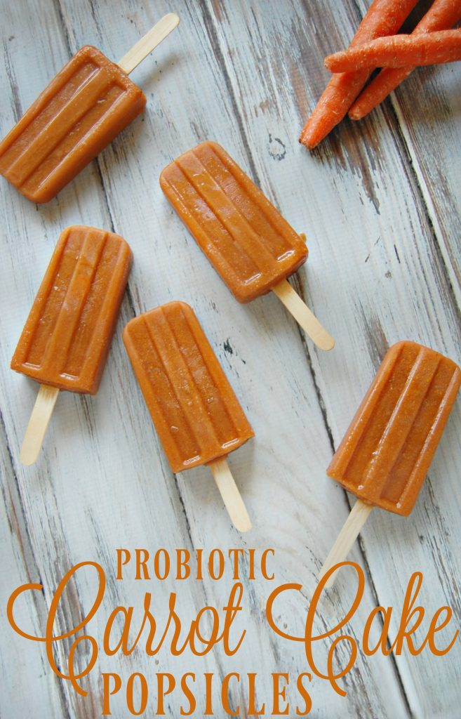 Probiotic Carrot Cake Popsicles - These popsicles might be packed with carrot and full of probiotics but my kids absolutely love them!