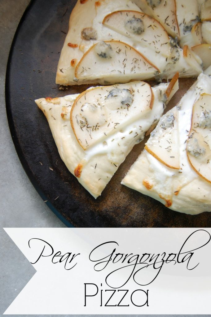 Pear Gorgonzola Pizza - Want to impress all your family and friends? Then you need to start making this pear gorgonzola pizza! This pizza just screams creative deliciousness and yet it's so easy to make!