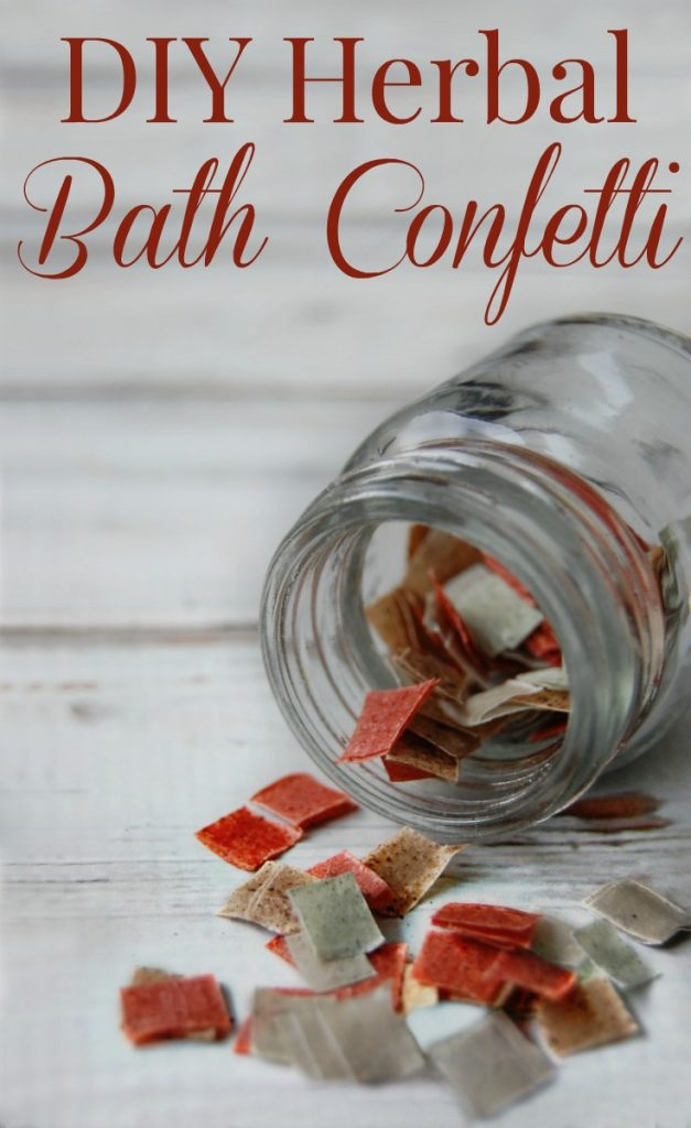 Do you remember bath confetti? Now you can make your own! This DIY Herbal Bath Confetti is fun to make and to use! Plus it's all natural! So much fun and makes a great gift too!